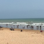 Karachi beach on a hot day - Sandspit