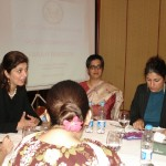 Farah Talking to Bloggers
