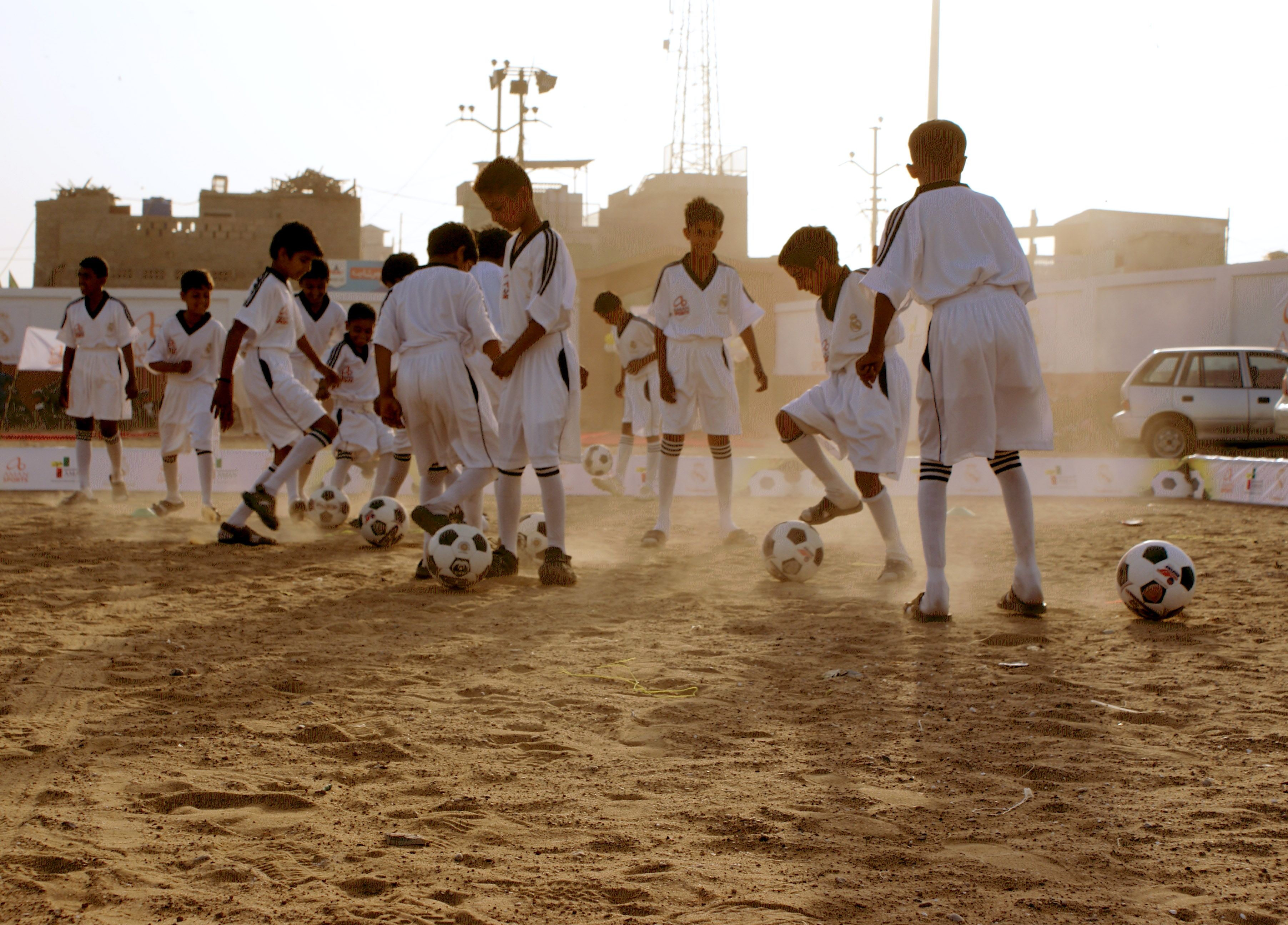 Football club Ibrahim haidri in collaboration with Real Madrid